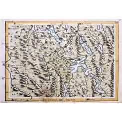 Switzerland map Die Gegend Um Lucern Bodenehr 1720