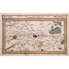 ARIEN - ST. VENAND AREA FRANCE ORIGINAL ANTIQUE MAP BY BODENEHR 1720