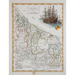 Holland Provinces Maastricht antique map Le Rouge 1756