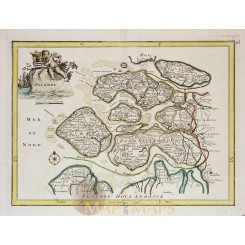 Zealande The Netherlands Antique map by Le Rouge 1748
