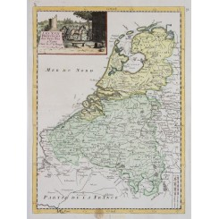 Antique map Seventeen Provinces of the Netherlands, by Le Rouge 1748