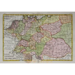 LOW CONTRIES, BOHEMIA, POLAND, GERMANY, HOLLAND, ANTIQUE MAP, BY BOONE 1787