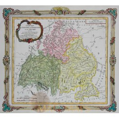 Bavaria, Franconia & Swabia old map Baviere Desnos 1766