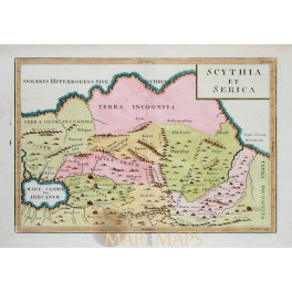 Scythia Et Serica Old Map Ancient Russia by Cellarius 1796