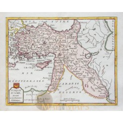Turkey, Ottoman Empire old map Turquie D'Asie - la Porte 1786