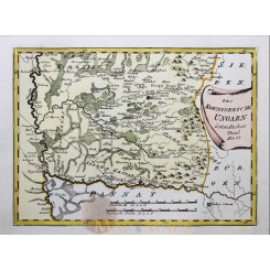 EAST SOUTH HUNGARY, ANTIQUE MAP BY VON REILLY 1791