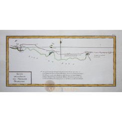 Indonesia Batavia Old map Route Vaisseaux Philippe 1787