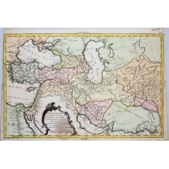 MIDDLE EAST ANTIQUE MAP, PERSIA, ARABIA, TURKEY, BY PHILIPPE DE PRETOT 1787