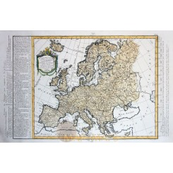 Carte Nouvelle d' Europe Antique map Europa by Mr. Philippe 1787