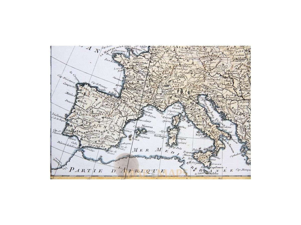 Carte Deurope Avec Zoom.Europe Old Map Carte Nouvelle D Europe Philippe 1787