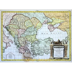 Hungary Antique Old map Turquie D'Europe Philippe 1787