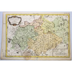 Saxony Germany old map Cercle Haut Saxe Philippe 1787