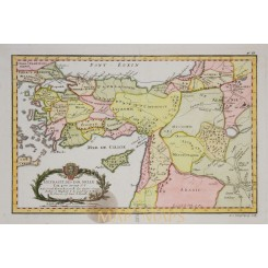 TURKEY, ASIA MIDDLE EAST, CYPRUS, ANTIQUE MAP PHILIPPE 1787