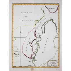Carte du Detroit de Bouton Buton Island Indonesia expedition Bougainville 1787
