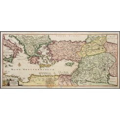 OLD MAP SAINT PAUL JOURNEY TO ITALY MEDITERRANEAN ITFNERA PAULI ANONYMOUS 1760
