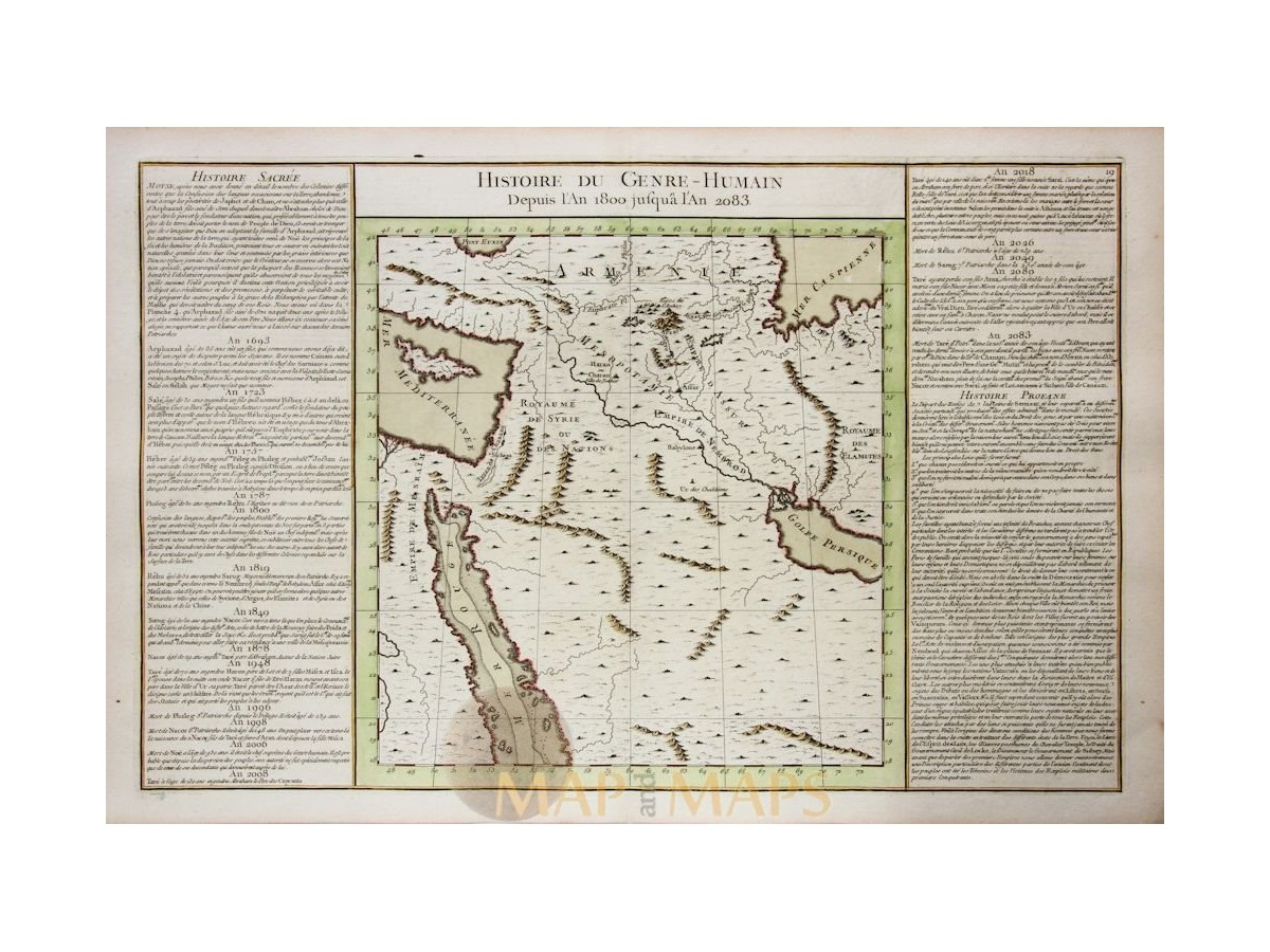 Armenia Persia Arabia Historical map by de Mornas 1762 | Mapandmaps