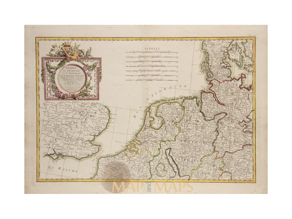 Map Of Holland And Germany.Dediee Et Presenteea Germany Holland Map By Zannoni 1780 Mapandmaps