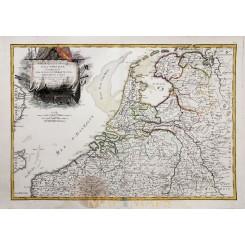 ANTIQUE MAP THE LOW COUNTRIES, PROVINCIES UNIES HOLLAND BY JANVIER/LATRÉ 1762