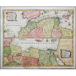 North Africa antique map Barbary Kingdoms Bowen 1747