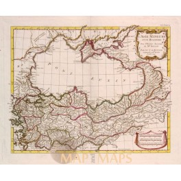 Asia Minor and Bosporus Antique old map by d'Anville 1740