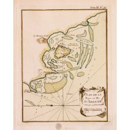 ANTIQUE MAP MAURITANIA BAY OF ARGUIM AFRICA OLD MAP BELLIN 1754