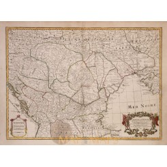 Carte De La Hongrie Old map Hungary Europe Delisle1780