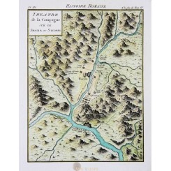 ANCIENT CARTHAGE-HERDA-OCTOGESA-SPAIN-ELBRO RIVER-OLD MAP BY PHILIPPE 1788