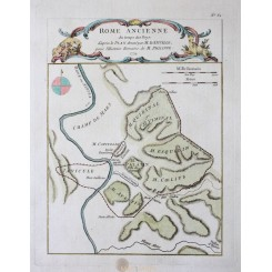 Antique map Italy Rome Ancienne Philippe 1779