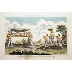 ANTIQUE PRINT DIFFERENT WAYS OF CARRIAGE & TRAVELLING IN CONGO AFRICA MOORE 1780