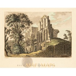Roche Abbey Yorkshire old print Roch Abbey Grose 1772