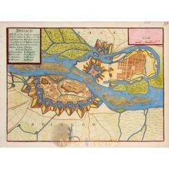 Breisach Am Rhein Town plan Brisach De Fer 1694