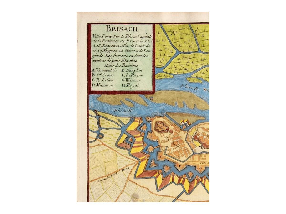 Breisach Germany Map.Breisach Am Rhein Town Plan Brisach De Fer 1694 Mapandmaps