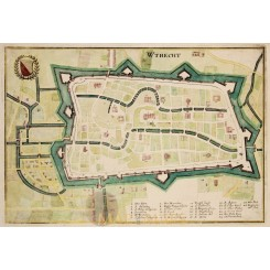 Utrecht Antique Town plan Holland Matthäus Merian 1659