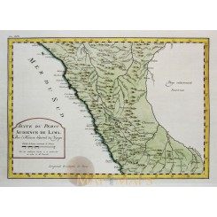 Peru Old map Suite du Perou Audience de Lima Bellin 1764