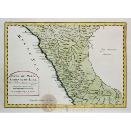 Peru Old map Suite du Perou Audience de Lima Bellin 1764