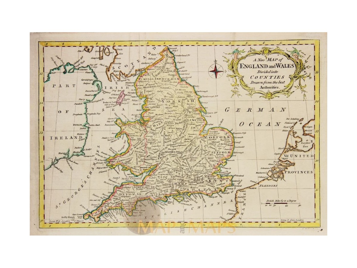 A New Map Of England And Wales By Rollos 1773 Mapandmaps
