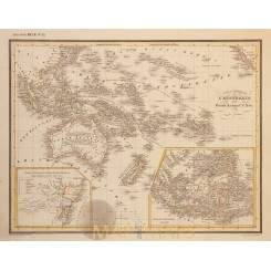 AUSTRALIA AND THE GREAT ASIAN ARCHIPELAGO ANTIQUE MAP HECK 1842