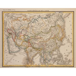 General antique Map of Asia. by Georg Heck 1842
