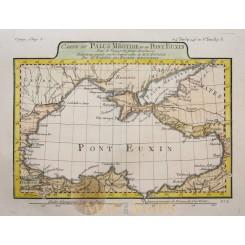 Black Sea Ukraine Bosporus antique map by Barbie 1781.