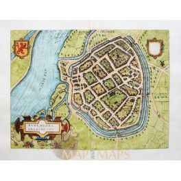 ROERMOND antique plan Limburg - by van Deventer 1613