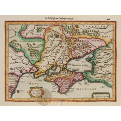 Taurica Cherfone Old map Crimean Peninsula Mercator 1630.
