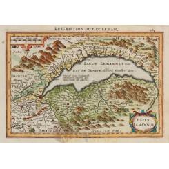 Switzerland Lac Leman Old map Lacus Lemannus Mercator 1630