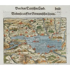 Lake Constance (Bodensee) Woodcut Münster 1578