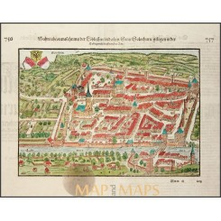 Solothurn Switzerland old woodcut Sebastian Munster 1572