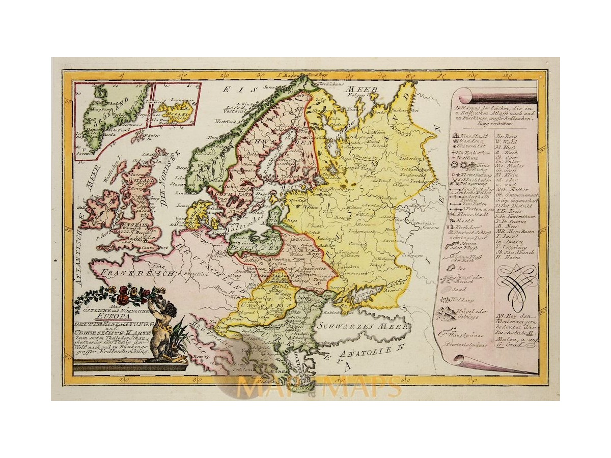 East and North Europe map Von Reilly 1791 - MapandMaps.com