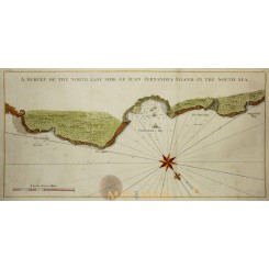 Juan Fernandes Island in the South Sea Chile Bellin 1748