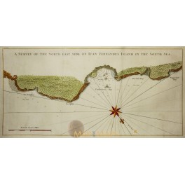 Juan Fernandez Island Chile map Bellin 1748