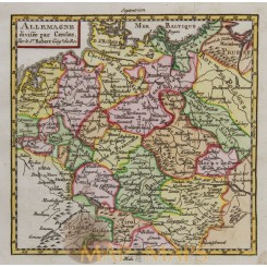 Germany antique map Claude Buffier 1769