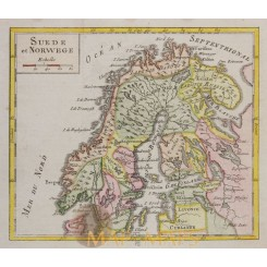 Sweden and Norway Robert de Vaugondy 1750