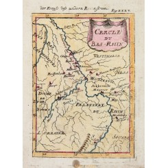 The Belgium Luxembourg Rhine antique map by Mallet 1720.
